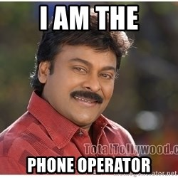 Typical Indian guy - i am the phone operator
