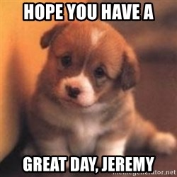 cute puppy - Hope you have a  great day, Jeremy