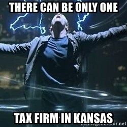 Highlander quick - there can be only one tax firm in Kansas