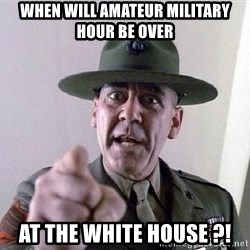 Military logic - When will amateur military hour be over At the White House ?!