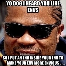 Xzibit - YO Dog I heard you like envs so i put an env inside your env to make your env more envious