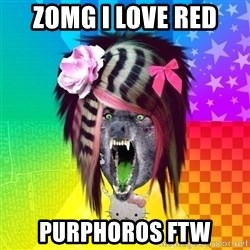 Insanity Scene Wolf - ZOMG i love red purphoros ftw