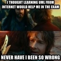 Never Have I Been So Wrong - I thought learning UML from Internet would help me in the exam NEVER HAVE I BEEN SO WRONG