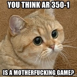 motherfucking game cat - you think ar 350-1 is a motherfucking game?