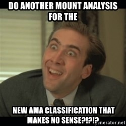 Nick Cage - DO ANOTHER MOUNT ANALYSIS FOR THE   NEW AMA CLASSIFICATION THAT MAKES NO SENSE?!?!?