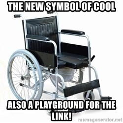 wheelchair watchout - the new symbol of cool also a playground for the link!