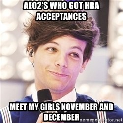 Sassy Louis - aeo2's who got hba acceptances meet my girls november and december