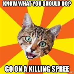 Bad Advice Cat - know what you should do? go on a killing spree