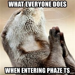 Praying Otter - What everyone does when entering Phaze TS