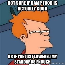 Not sure if troll - Not sure if camp food is actually good or if i've just lowered my standards enough