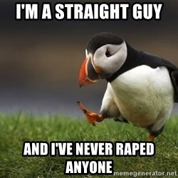 puffin guy - I'm a straight guy  And I've never raped anyone