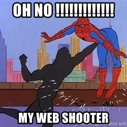 crotch punch spiderman - oh NO !!!!!!!!!!!!! My Web shooter