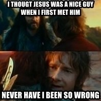 Never Have I Been So Wrong - I THOUGT JESUS WAS A NICE GUY WHEN I FIRST MET HIM NEVER HAVE I BEEN SO WRONG