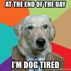 Business Dog - AT THE END OF THE DAY I'M DOG TIRED
