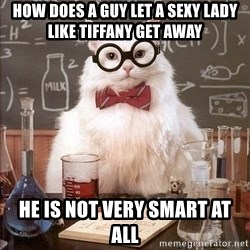 Chemistry Cat - HOW DOES A GUY LET A SEXY LADY LIKE TIFFANY GET AWAY He is not very smart at all