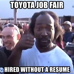 charles ramsey 3 - toyota job fair hired without a resume