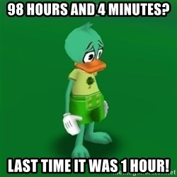 Toontown Problems - 98 hours and 4 minutes? Last time it was 1 hour!