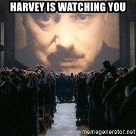 Big Brother is watching you... - Harvey is watching you