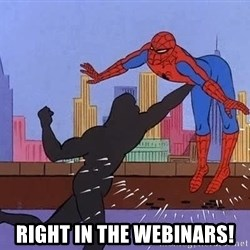crotch punch spiderman -  Right in the webinars!