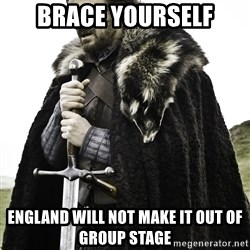 Sean Bean Game Of Thrones - brace Yourself England Will not Make it out of Group Stage