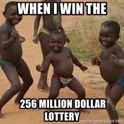 african children dancing - when i win the  256 million dollar lottery
