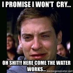 crying peter parker - I promise I won't  cry... oh shit!! here come the water works...