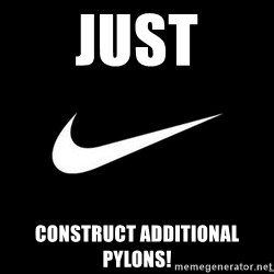 Nike swoosh - just construct additional pylons!