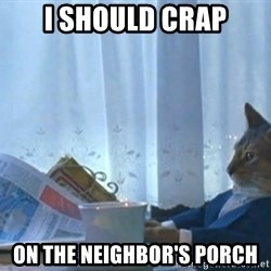 newspaper cat realization - I should crap on the neighbor's porch