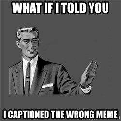 Grammar Guy - what if i told you i captioned the wrong meme