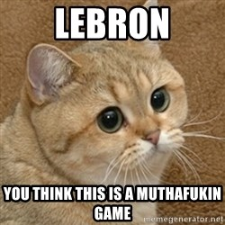 motherfucking game cat - Lebron you think this is a muthafukin game