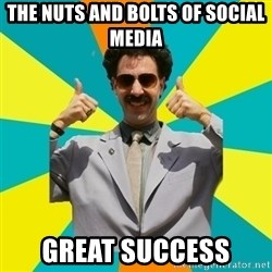 Borat Meme - The nuts and bolts of social media great success