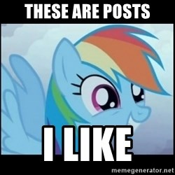 Post Ponies - these are posts i like
