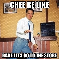 Mom Jeans Mitt - Chee be like Babe lets go to the store