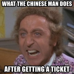 WillyWonkaFizzy - What the Chinese Man Does after getting a ticket