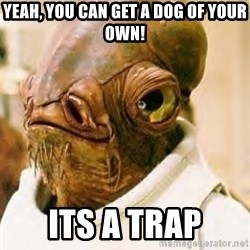 Its A Trap - Yeah, you can get a dog of your own! ITS A TRAP