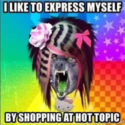 Scene Wolf - I like to express myself by shopping at hot topic