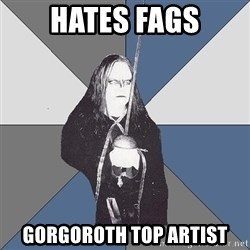 Black Metal Sword Kid - hates fags gorgoroth top artist