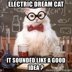Chemistry Cat - Electric dream cat It sounded like a good idea ?