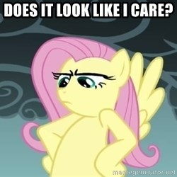 Tough Fluttershy - Does it look like i care?