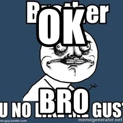 Y U No Like Me - OK   BRO