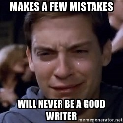 Crying Tobey Maguire1 - Makes a few mistakes will never be a good writer