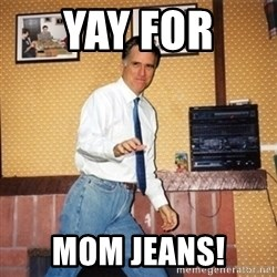 Mom Jeans Mitt - yay for  mom jeans!