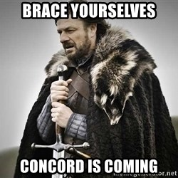 brace yourselves the purple is coming - BRACE YOURSELVES CONCORD IS COMING
