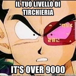 Vegeta's whore detector - Il tuo livello di tirchieria it's over 9000
