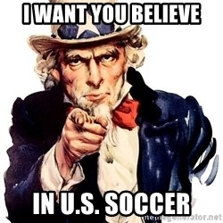 Uncle Sam Point - I want you believe In u.s. soccer