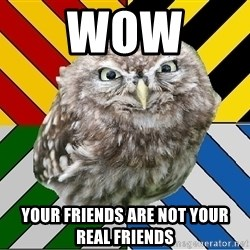 JEALOUS POTTEROMAN - WOW  Your friends are not your real friends