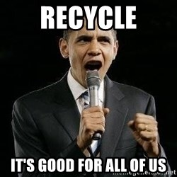 Expressive Obama - recycle it's good for all of us