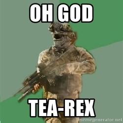 philosoraptor call of duty - oh god tea-rex