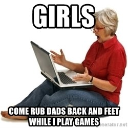 SHOCKED MOM! - Girls Come rub dads back and feet while i play games