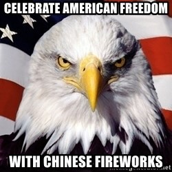 American Pride Eagle - celebrate american freedom with chinese fireworks